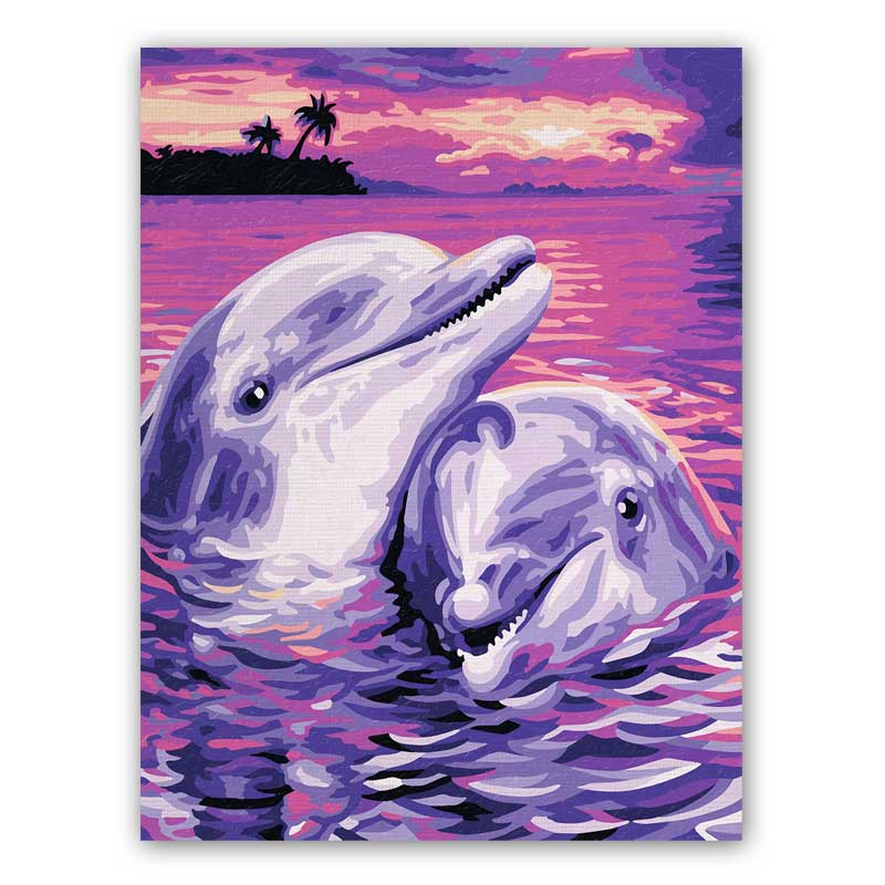 malen nach zahlen  delfine  609240659 schipper kids mnz