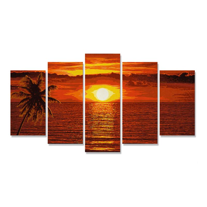 Bilderrahmen Polyptychon für z.B Sonnenuntergang in der Karibik oder Am Wildbach